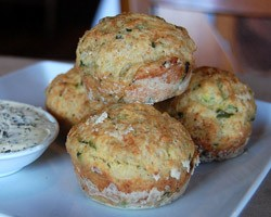 Muffins feta courgettes